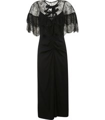 self-portrait fine lace cape midi dress