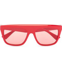 oversize sunglasses red