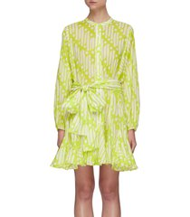 'emma' chartreuse batik dress