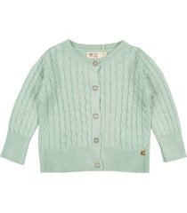 casaco cardigã tricô mini lady verde - kanui