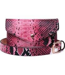 donna snake modello mini crossbody borsa vita elegante borsa