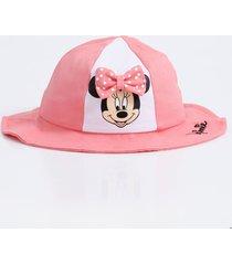 chapéu infantil estampa minnie laço disney