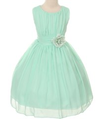 mint yoryu chiffon flower girl dresses birthday party pageant wedding bridesmaid