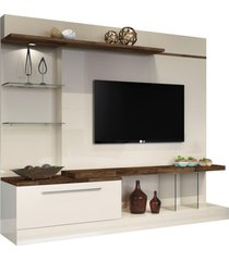 home theater allure off white/deck - hb móveis