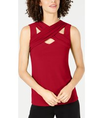 inc crisscross cutout top, created for macy's