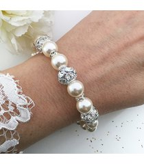 bransoletka ślubna perły swarovski druhna