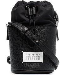 maison margiela 5ac leather bucket bag - black