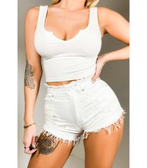 akira all day every day high rise denim shorts