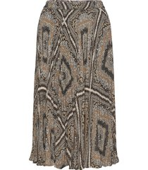 medallion plted skirt knälång kjol multi/mönstrad michael kors