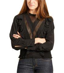 suite long sleeves silk top