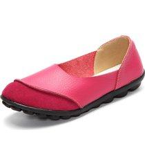 scarpe basse casual in colore abbinato a comodità e morbidezza