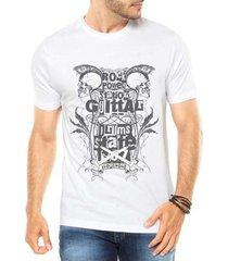 camiseta criativa urbana caveiras do rock