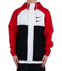 sportswear swoosh woven hooded jacket