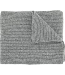 n.peal chunky ribbed scarf - grey