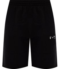 sweat shorts with logo