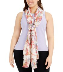 betsey johnson cluster floral scarf