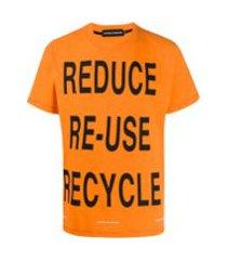 united standard camiseta com estampa - laranja