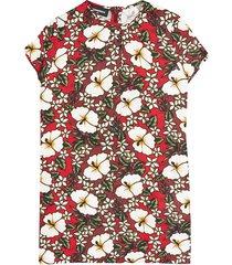 dsquared2 hibiscus print dress