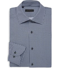 collection circle diamond medallions dress shirt
