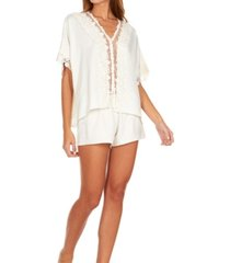 flora nikrooz collections womens showstopper charmeuse lace pajama