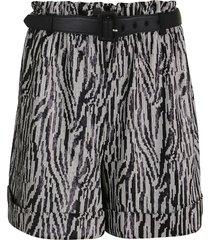 self-portrait zebra sequin high waisted shorts