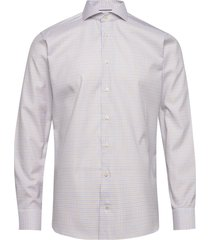 checked cotton-tencel shirt overhemd business multi/patroon eton