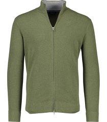 profuomo vest groen met opstaande kraag