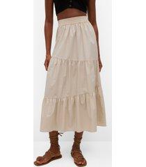 mango ruffled cotton skirt