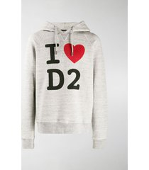 dsquared2 i love d2 printed hoodie