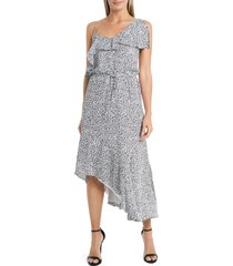women's vince camuto asymmetrical flutter georgette dress