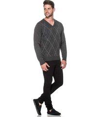 suéter passion tricot jacar grafite