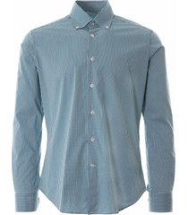 oxford shirt check - green notadayt-grn