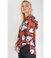 blusa lança perfume moletom laranja - kanui