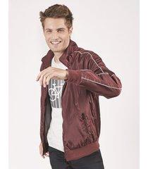 jaquetas & casacos khelf jaqueta masculina nylon vivo vinho