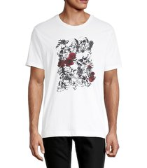 robert graham men's coosada skull & roses graphic t-shirt - white - size l