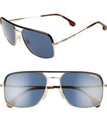 men's carrera eyewear 60mm gradient aviator sunglasses - gold blue