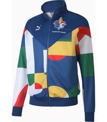 frankrijk-trainingsjack voor heren, blauw/wit, maat l | puma
