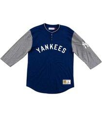 mitchell & ness new york yankees men's player henley shirt