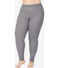 cuddl duds plus size stretch thermal leggings