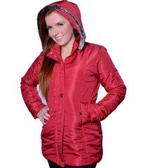 casaco sobretudo carbella winter vermelho - kanui