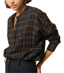 catalina checked blouse