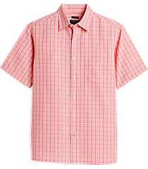 pronto uomo coral plaid classic fit sport shirt
