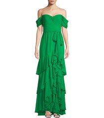 twist-front ruffle dress
