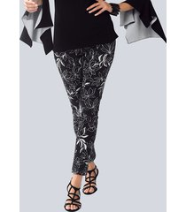 broek alba moda zwart::offwhite