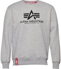 basic sweater sweat-shirt tröja grå alpha industries