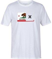 hurley men's destination half flag graphic t-shirt