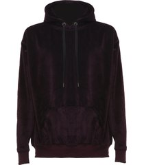 family first milano hoodie velour purple