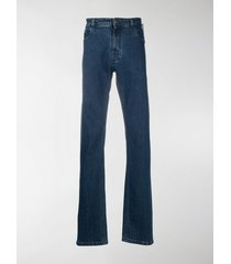 raf simons slim-fit zip detail jeans