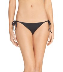 women's becca color code side tie bikini bottoms, size large - black