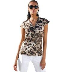 shirt amy vermont bruin::zwart